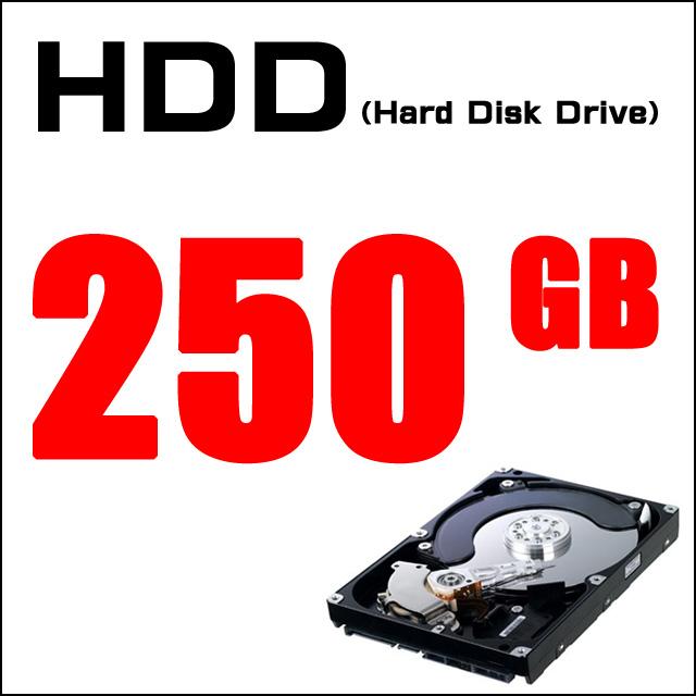 ストレージ★ハードディスク250GB搭載